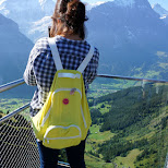 glass floor cliff walk on the First in Switzerland in Grindelwald, Bern, Switzerland