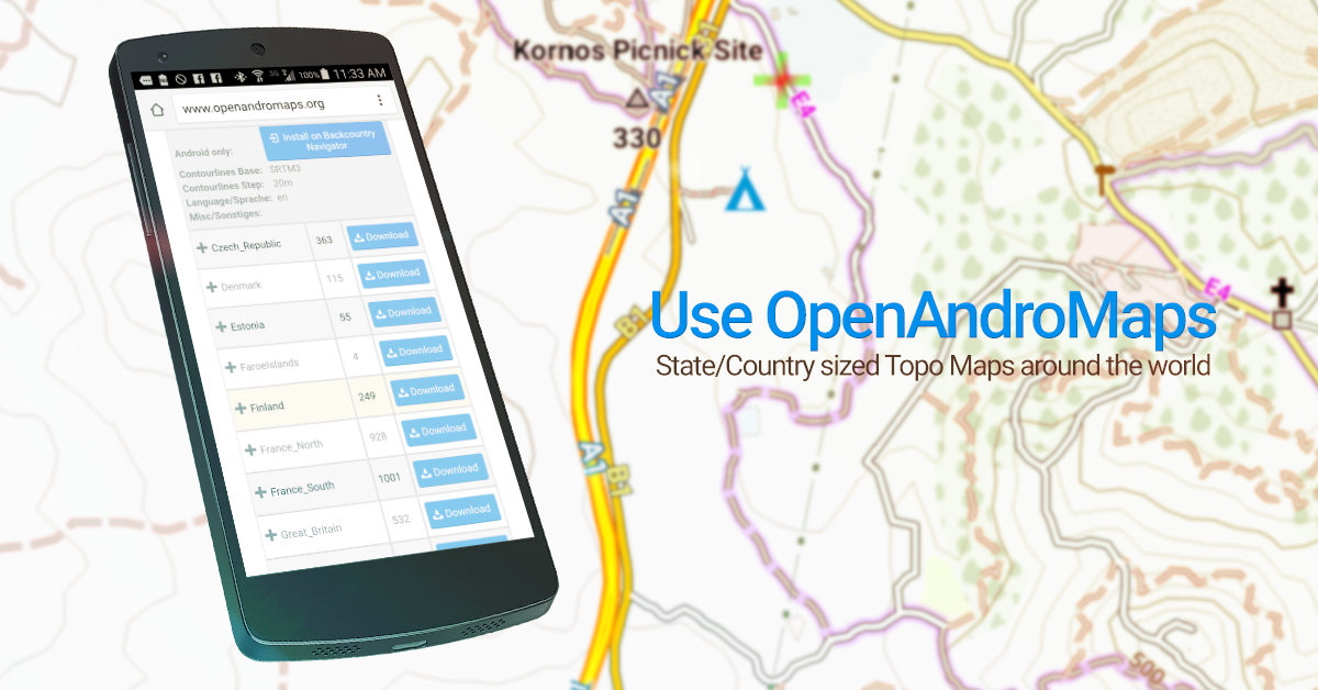 BackCountry Navigator TOPO GPS Android Apps On Google Play - Migrate us topo free maps to pro versino
