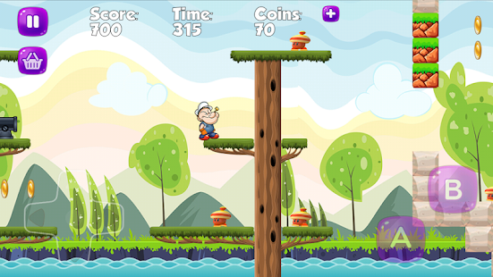 Papaye The Strong Man Jungle Adventures Game Free - náhled