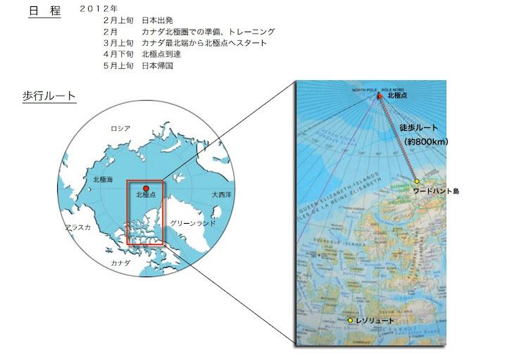 北極点無補給単独徒歩到達計画概要