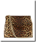 Karen Millen suede and leather leopard print shoulder bag