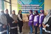Ketua KPPI Karawang Distribusikan Makanan Tambahan bagi Balita & Ibu hamil Posyandu Kenanga III  Desa Kondangjaya