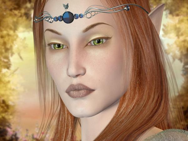 Green Eyes Samurai Girl, Magic Samurai Beauties