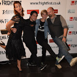 OIC - ENTSIMAGES.COM - Pollyanna McIntosh, Shaked Berenson, Axelle Carolyn and Neil Marshall at the Film4 Frightfest on Monday   of  Tales of Halloween UK Film Premiere at the Vue West End in London on the 31st  August 2015. Photo Mobis Photos/OIC 0203 174 1069
