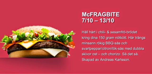 McDonald's Sweden My Burger 2014