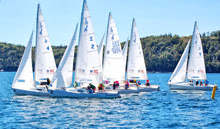 J/22s sailing Canadian Women's Nationals