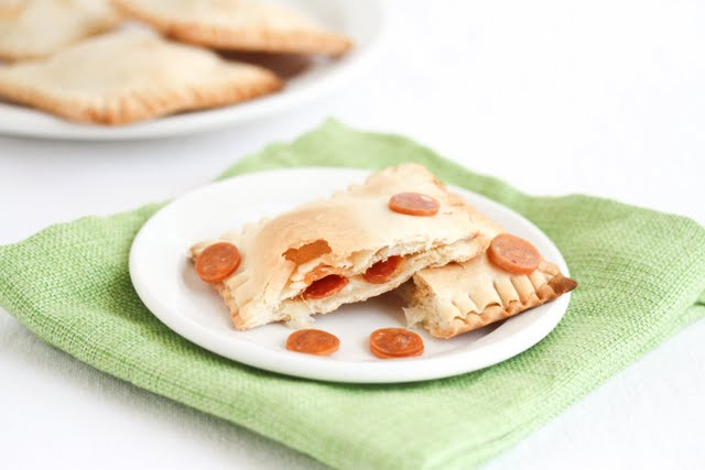 photo of pepperoni pop tarts on a plate