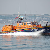 Poole's Tyne class lifeboat on exercise off Swanage  Sunday 14 July 2013 Photo: RNLI Poole/Dave Riley