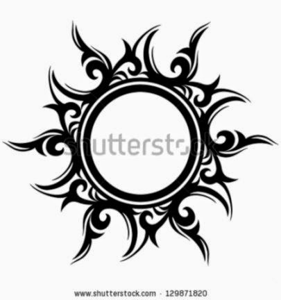 Sun tattoo Stock Photos Images amp Pictures  Shutterstock