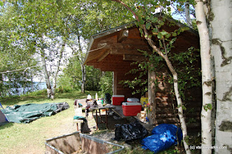 Photo: Birch Bay lean-to at Knight Island State Park by Beth & Brad Herder