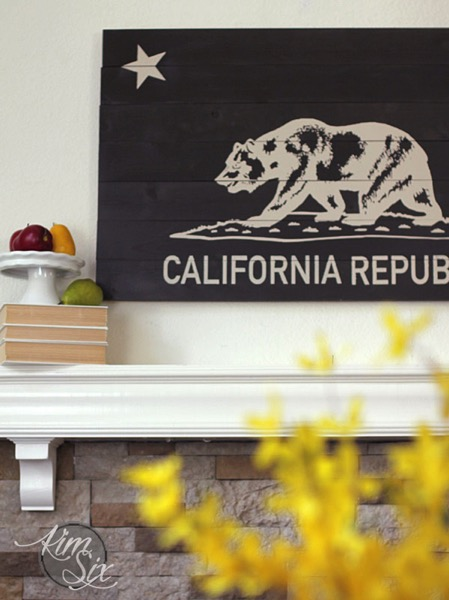 California Republic Stenciled Sign