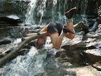 Kate (Ringleader) attempting a Somersault