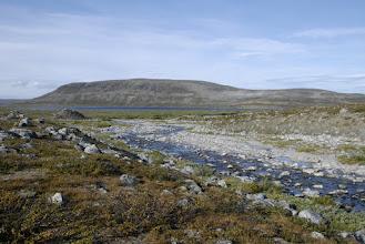 Kuva: jokiuoma oli varsin kuivana ja ylittäminen ei tuottanut ongelmia