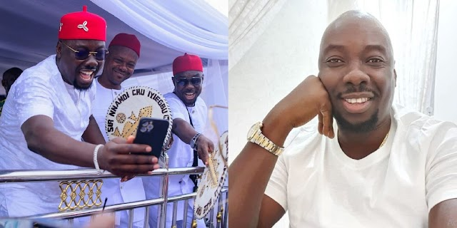 """""""I am the last of the males"""" – Billionaire, Obi Cubana writes as he shows off his brothers"""