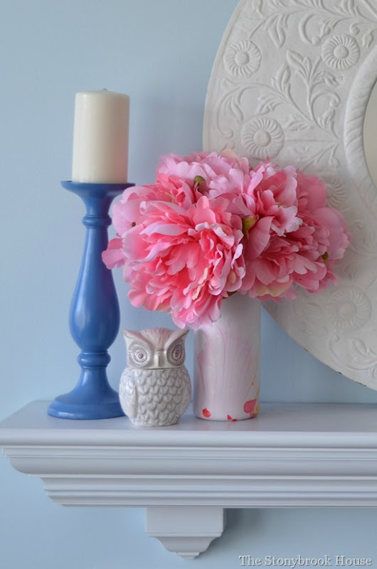 Candle and Peonies