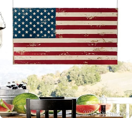 pottery barn flag