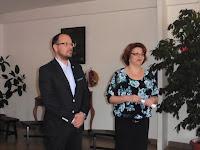 01  Štefan Gregor polgármester és Lészkó Katalin igazgató a megnyitón.JPG