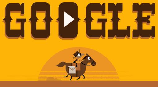 Google-Doodle: 155 Jahre Pony-Express