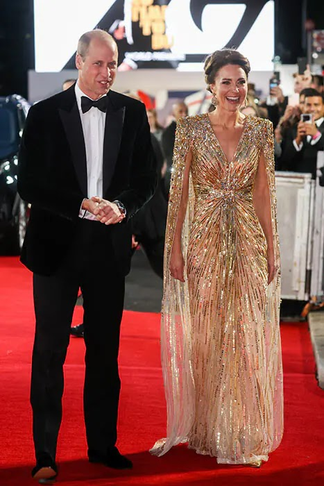 Kate Middleton and Duchess Camilla wow at James Bond premiere with William and Charles