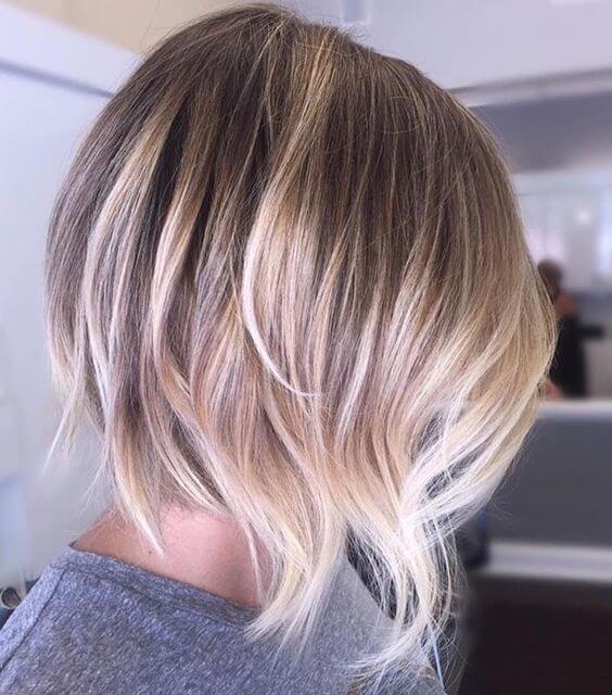 Balayage Short Hair Blonde 2018 2