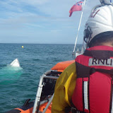 Poole ILB rescues sinking speedboat off Bournemouth seafront - 27 June 2015.  Photo credit: Dave Riley