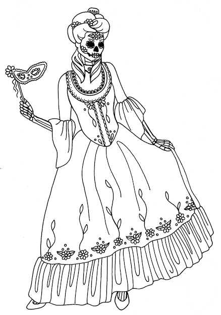 Day Of The Dead Skull Coloring Pages Awesome Coloring Pages