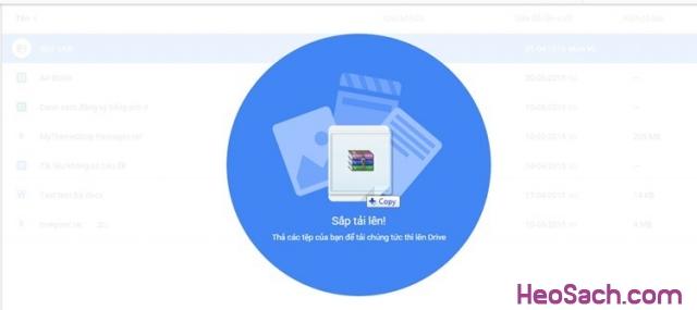 Hình 7 - Hướng dẫn sử dụng Google Drive để lưu dữ liệu