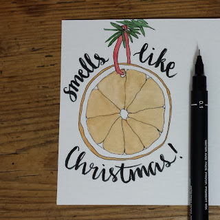 Orange slice drawing by Alice Draws The Line