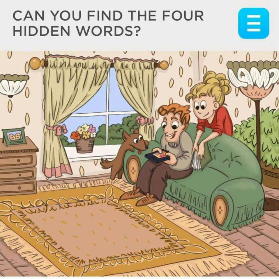 Can You Find The Four Hidden Words ? Puzzle ~ Telugu Apple News