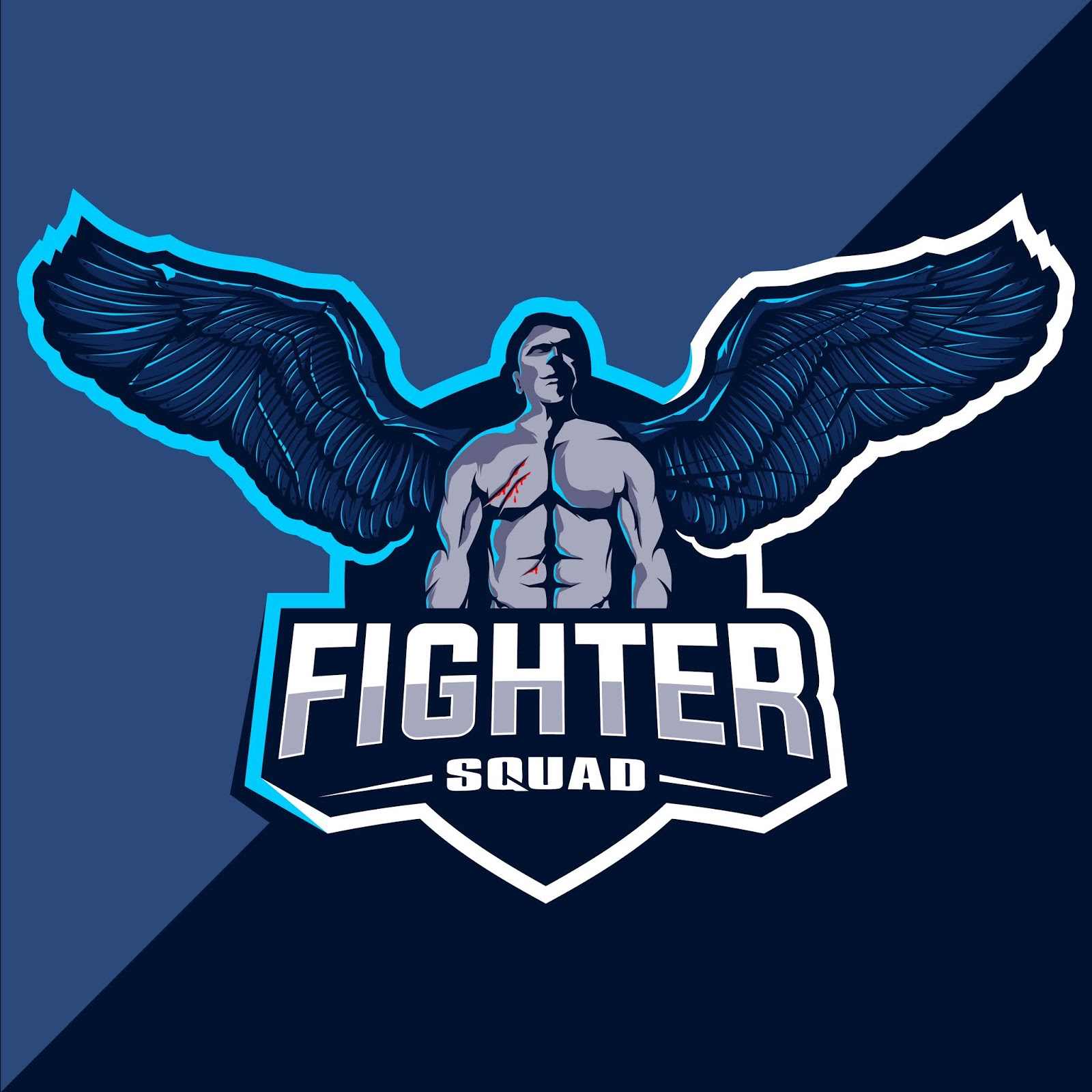 Fighter Mascot Esport Logo Design Free Download Vector CDR, AI, EPS and PNG Formats