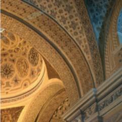 Interior del castillo del Papa Luna en Illueca