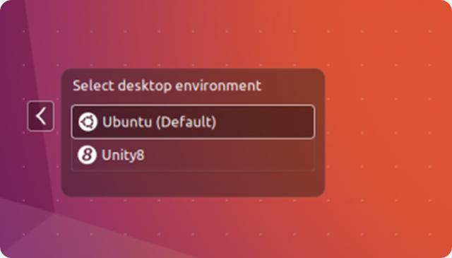 La sessione Desktop Unity 8 preinstallata in Ubuntu 16.10 Yakkety Yak.