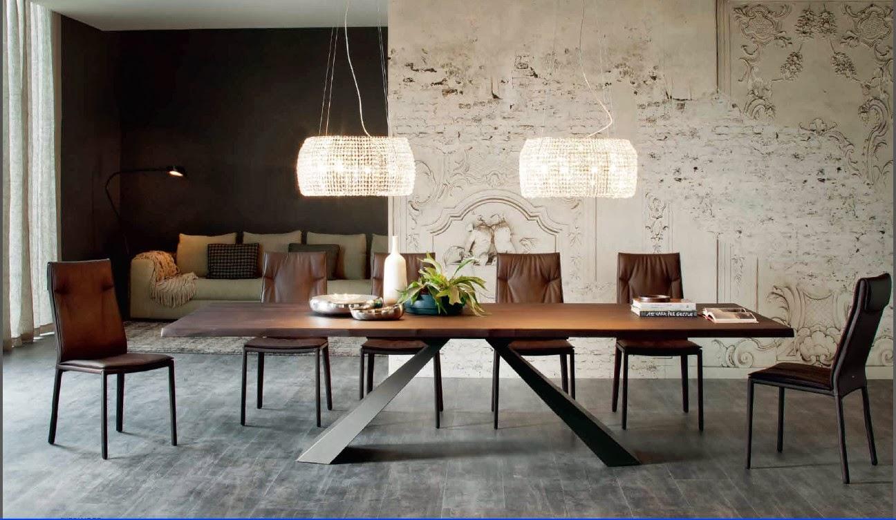Cattelan tavolo Eliot, piano noce fisso, struttura metallo.jpg