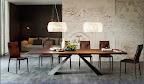 Cattelan tavolo Eliot, piano noce fisso, struttura metallo