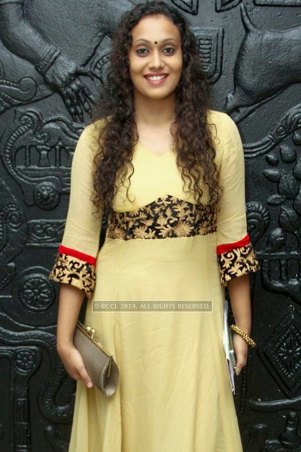 Parvathy during the music launch of Rajeev Ravi's upcoming movie Njan Steve Lopez in the city.
