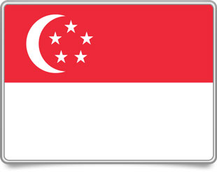 Singaporean framed flag icons with box shadow