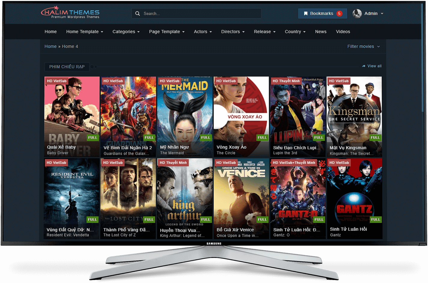 HaLimMovie -  Wordpress Movies and TV Shows Theme