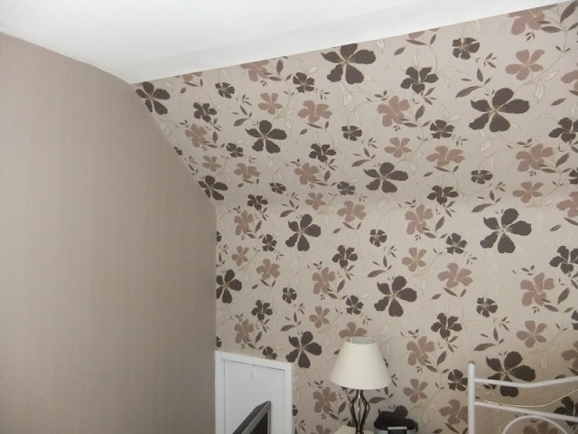Bedroom redecoration with feature wall in Ormskirk, Lancs