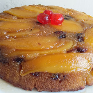 Mango and Cranberry Upside Down Cake.