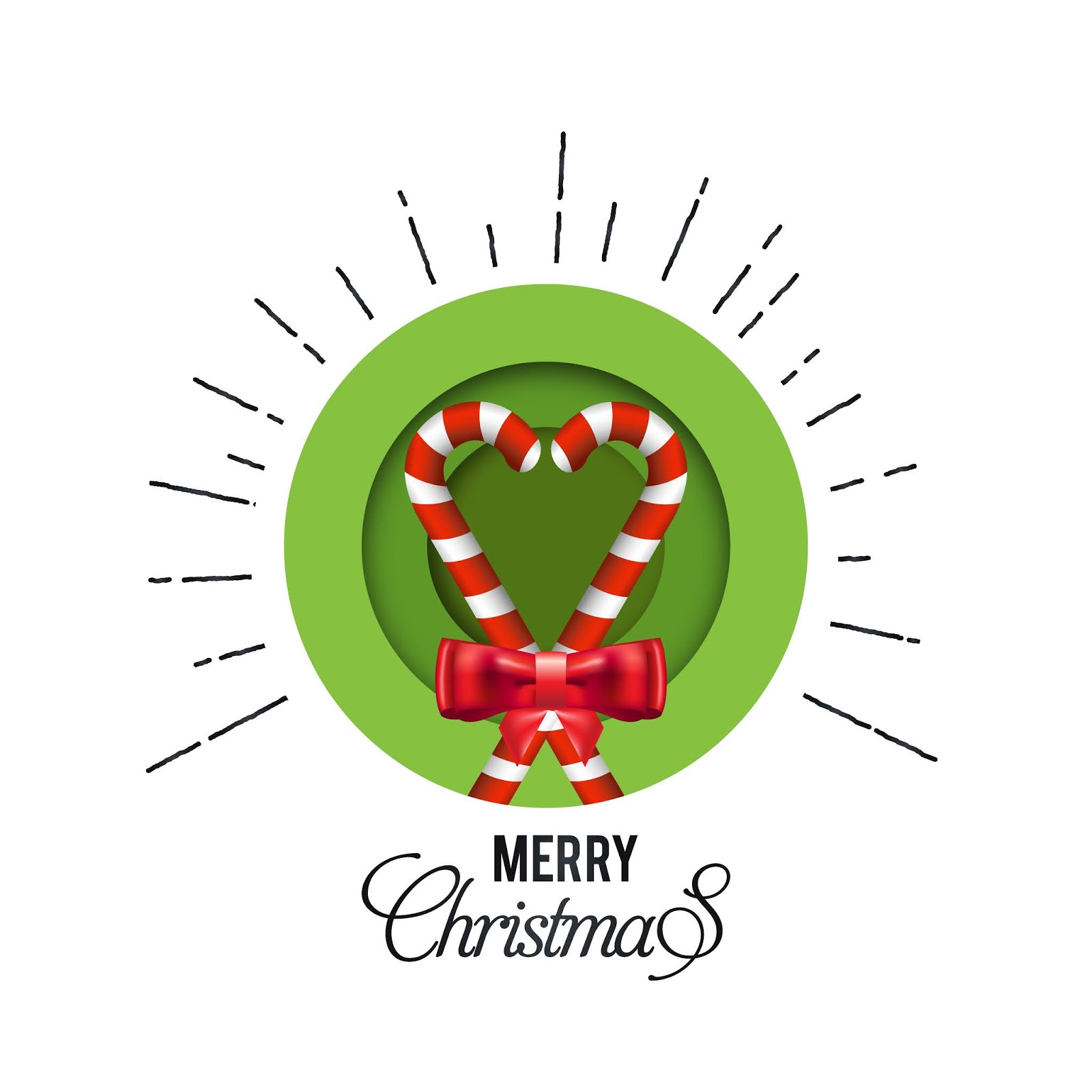 Merry Christmas Banner Frame With Flakes Green Ground Free Download Vector CDR, AI, EPS and PNG Formats