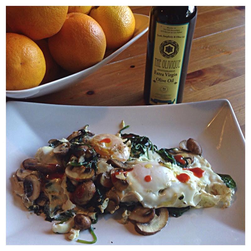 Egg Mushromo Spinach Breakfast