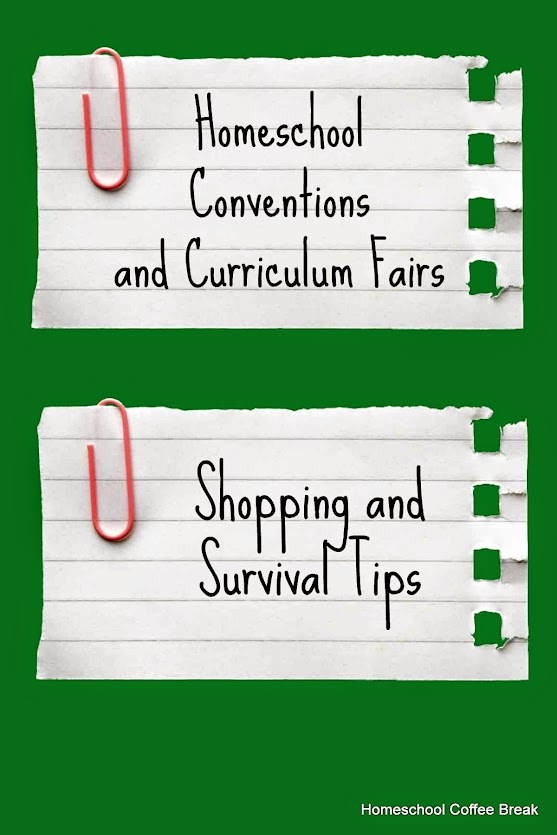 Curriculum Fair Shopping and Survival Tips @ Homeschool Coffee Break - kympossibleblog.blogspot.com
