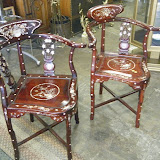 Ornate Corner Chairs