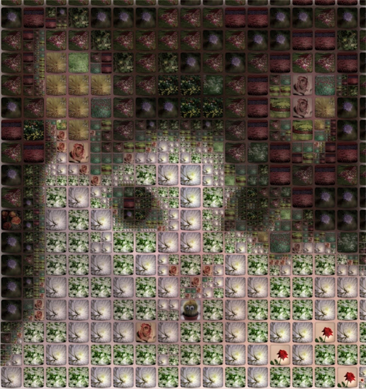 Piewhackits in Flowers Mosaic