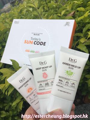 按天氣和肌膚需要。組合專屬你的 UV 密碼 ♥ Dr. G Sun Code 防曬乳系列 ... ... ...