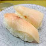 swordfish sushi at TENKASUSHI in Shibuya in Tokyo, Tokyo, Japan
