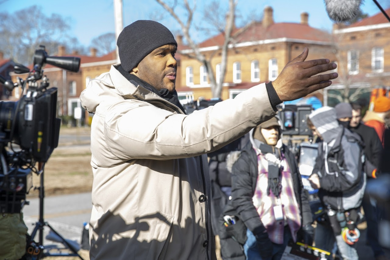 Director Tyler Perry on the set of BOO! A MADEA HALLOWEEN. (Photo by Eli Joshua / Lionsgate).