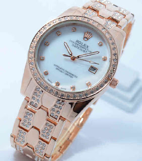 Jual Jam Tangan Rolex datejust ring diamond full rosegold