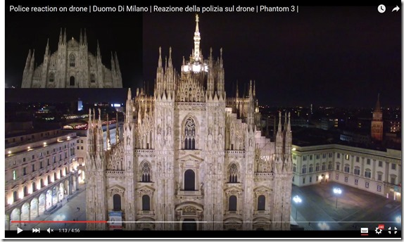 video drone milano