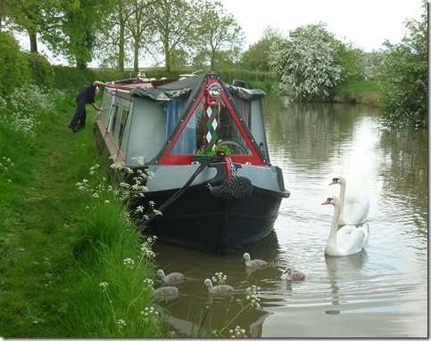 7 lovely mooring near braunston